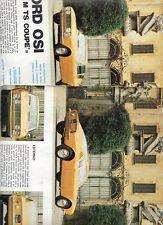 SP72 Clipping-Ritaglio 1968 Ford OSI 20 M TS Coupè