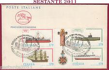 ITALIA FDC CAVALLINO COSTRUZIONI NAVALI ITALIANE 1979 ANNULLO ROMA FILATEL. Y849