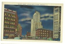 Genesee Street Looking West By Night Syracuse New York NY Postcard