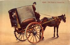 IRELAND. CORK - THE JINGLE OF COVERED CAR horse-drawn two-wheel carriage