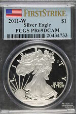 2011-W PCGS PROOF 69DCAM American Silver Eagle!! #B2210