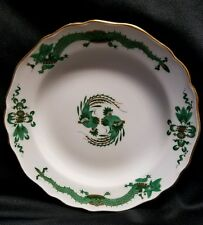 "Meissen 7"" Salad plate GREEN DRAGON with Gold - Crossed Swords Germany"