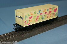 """Marklin 44266 DB Container Car """"Geburtstagwagen UNICEF 2000"""""""
