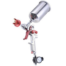 1.3 mm HVLP Gravity Feed Spray Gun Auto Paint w/ Gauge Base Clear Primer Nozzle