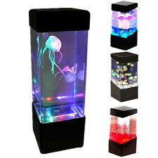 Relaxing Bedside Mood Lamp Jellyfish Volcano Water Aquarium Tank LED Light New