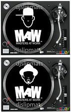"PAIR (2) Masters at Work MAW 12"" or 7"" DJ SLIPMATS slipmat louie vega kenny dope"