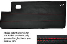 RED STITCH 2X FULL DOOR CARD LEATHER SKIN COVER FITS PEUGEOT 205 CJ CABRIO