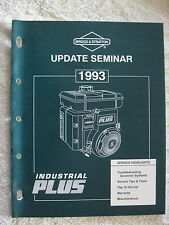 1993 BRIGGS & STRATTON UPDATE SEMINAR ENGINE SERVICE MANUAL
