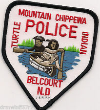 Mountain Chippewa / Belcourt, ND  shoulder police patch (fire)