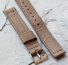Old type tan 1940s/1950s Swiss Calf Leather vintage watch band 16mm Gemex USA