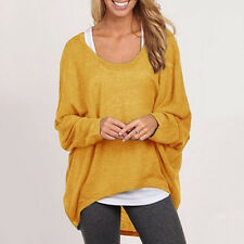 Korean Women Plus Size Long Sleeve Pullover Ladies Loose Baggy Casual Top Jumper