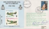 BATTLE OF BRITAIN ace pilot personally signed FDC - SIR DOUGLAS BADER