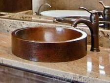 """18"""" X 15"""" Oval Skirted Copper Bath Sink Drop-In or Vessel by SimplyCopper"""
