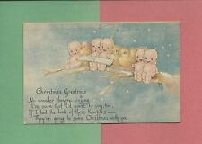 SINGING KEWPIES Authentic A/S ROSE O'NEILL Vintage 1919 CHRISTMAS Postard
