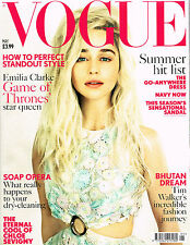 VOGUE UK May 2015 EMILIA CLARKE Karen Elson HOLLIE-MAY SAKER Chloe Sevigny @NEW@