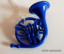 How I Met Your Mother Blue French Horn Necklace Pendant Silver Chain Jewelry NEW