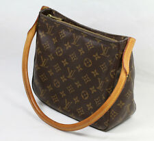 Louis Vuitton Monogram Looping MM Rolled Leather Handle Shoulder BagM51146 F/S