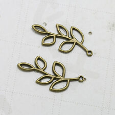 10pc Ancient Bronze Tone Tree Branches Leaf Alloy Charm Pendant Jewelry Findings