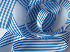 Pencil / candy stripe ribbon 25mm wide - 2 metres + Berisfords range of colours
