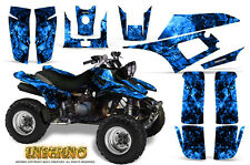 YAMAHA WARRIOR 350 GRAPHICS KIT CREATORX DECALS STICKERS INFERNO BL