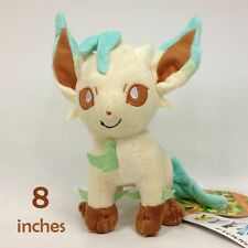 Pokemon Plush Leafeon Soft Toys Stuffed Animal Character Doll Cuddly Teddy 8""