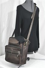 VINTAGE WILSON LEATHER TOTE PURSE MESSENGER CROSS-BODY BAG Lots of Pockets