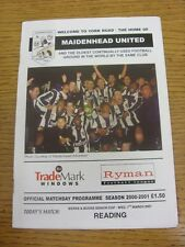 07/03/2001 Maidenhead United v Reading [Berkshire And Buckinghamshire Senior Cup