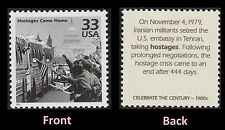 US 3190d Celebrate the Century 1980s Hostages Come Home 33c single MNH 2000