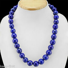 Fashion 12mm Natural Blue Lapis Lazuli Round Beads Necklace 18'' AAA++