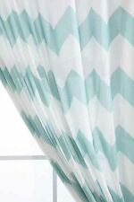 "Urban Outfitters Assembly Home Lt. Blue Zig Zag Curtain Panel 52"" x 63"" NIP"