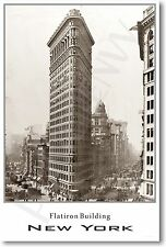 Flatiron Building - New York City -  Vintage NYC Architecture Photo POSTER