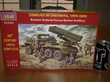 CHECHNYA WAR - RUSSIAN (BM-21) ROCKET ARTILLERY TRUCK, Plastic Model Kit,1:35