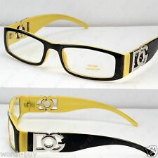 DG Clear Lenses Frames Glasses Fashion Nerdy Mens Eyewear Designer Yellow Unisex