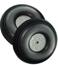 """1 pair of 3.75"""" /95.3mm RC Airplane PU wheel with Plastic Hub(D95.25x H34x5mm)"""