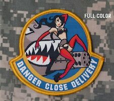 DANGER CLOSE DELIVERY COLOR COMBAT TACTICAL BADGE MORALE MILITARY PATCH