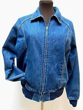 VTG-CHERYL TIEGS DENIM JEAN JACKET--Full Zip--Dark Wash--Women's Size M