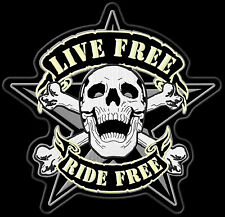 Live Free Ride Free Patch Aufnäher 27x27cm-Backpatch Kutte MC Rockabilly Kerosin