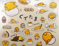 Japanese Gudetama lazy egg stickers by Sanrio! Kawaii sweets, lunch snacks, etc!
