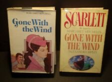 USED (2 Books) Gone with the Wind and the sequel Scarlet Hardback Books