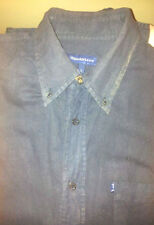 Genuine Trussardi Jeans men's shirt long sleve size L Cotton Vintage Blue