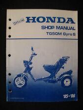 TG50M 1985 1986 Honda TG50M TG 50 M Gyro Service Shop Repair Manual - NOT A COPY