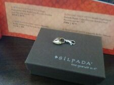 "Retired Silpada ""Unlock Love"" Charm - Item C2583 - Sterling & Brass. NIB"
