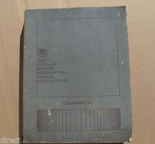 Genuine Factory GM OEM 1986 Cadillac CIMARRON Shop Manual Service Book By HELM
