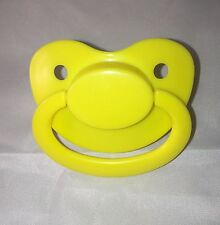 Light Yellow Pastel Dummy / Pacifier Large for Adults / Adult Baby ABDL