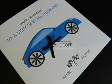 Personalised Handmade Birthday Card - Car - Friend,Son,Dad,Brother,Nephew,Uncle