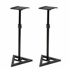 A Pair Adjustable Heavy Duty Telescoping Monitor Speaker Stand Height Studio