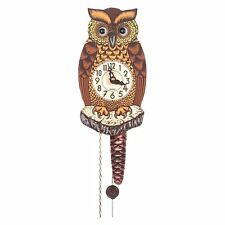 Alexander Taron Black Forest Owl 8-Inch Wall Clock, Other Materials