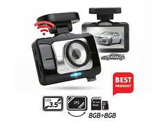 "Lukas LK-9170 Dash Camera 2CH Full HD Wi-Fi 3.5""LCD Dual 8Gb+8Gb+GPS + UV Filter"