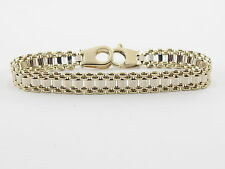 "14K Yellow And White Gold Mens Bracelet 7 1/2""  15.8 grams"