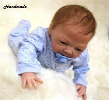 18''Handmade Lifelike Baby Boy Girl Doll Silicone Vinyl Reborn Newborn Doll Cute